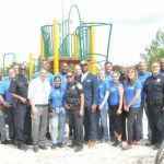 Packers players take part in MKE Plays playground build