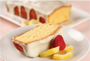 White Chocolate Ganache Lemon Glazed Pound Cake