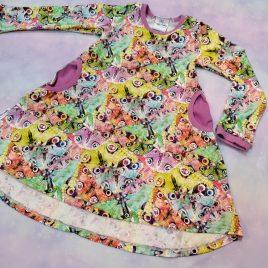Butterflies hi-lo tee-shirt dress