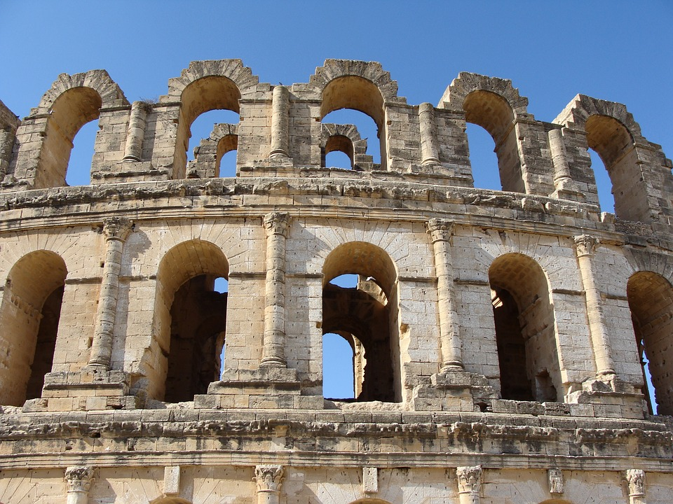 Ruinas romanas en el norte de África