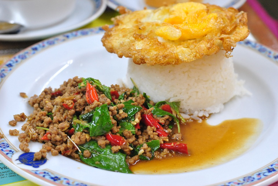 The Pork Fried Rice Made Dish Thailand Food