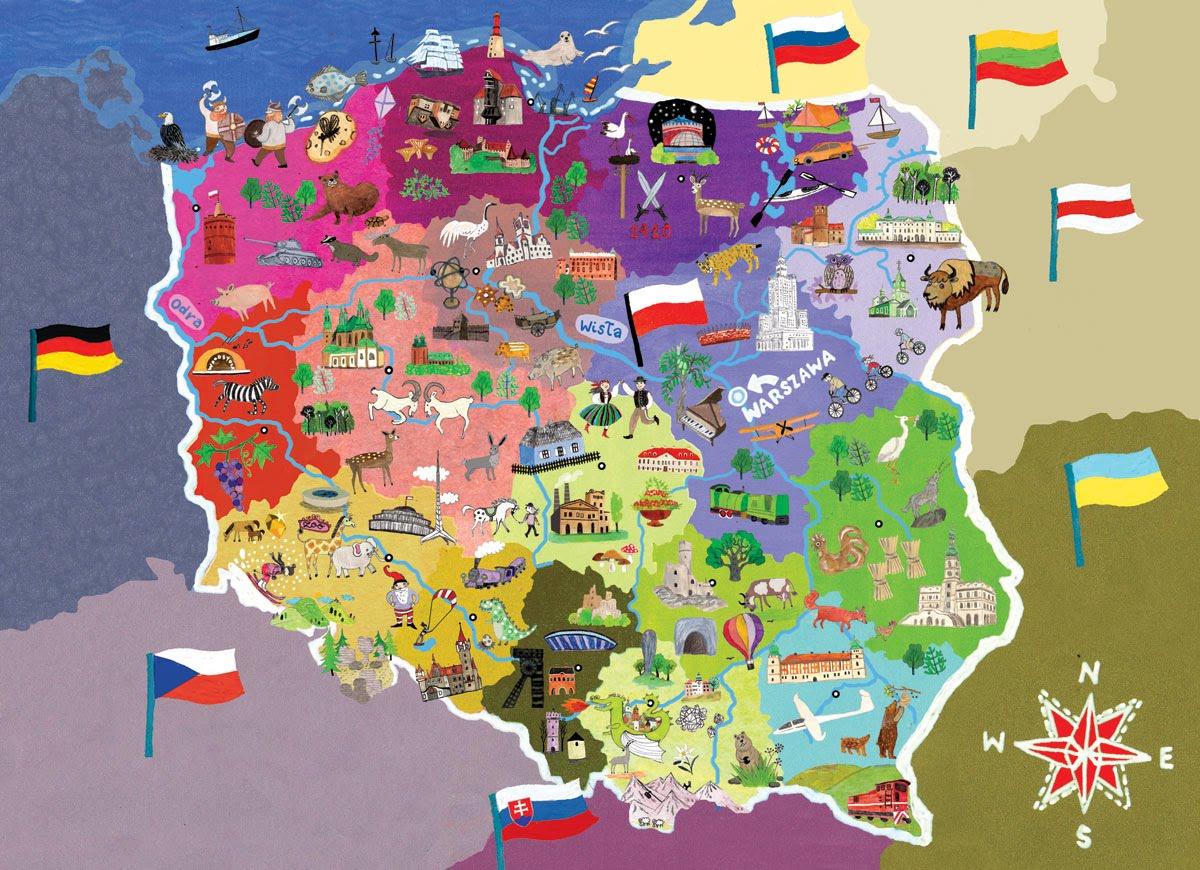Polonia mapa
