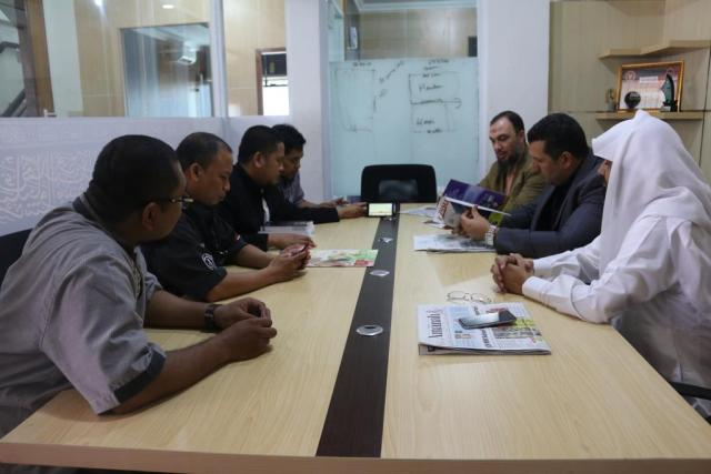 a visit to the office of Al-Haram Media Group