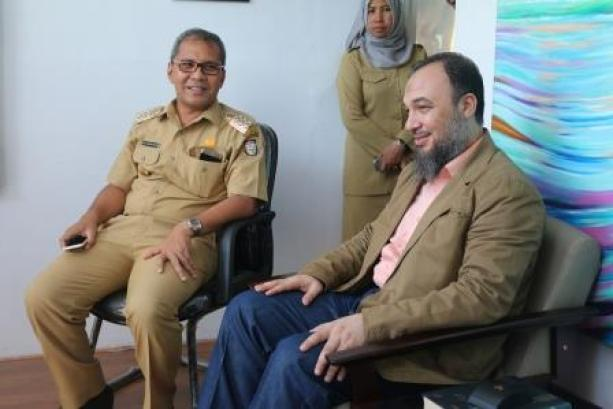 a visit to the Mayor of the Makassar City