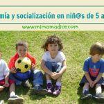 Autonomía y socialización en niños de 5 a 6 años