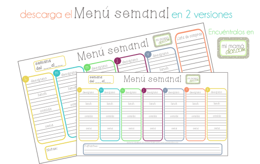 """alt""menus semanales mimamadice.com"