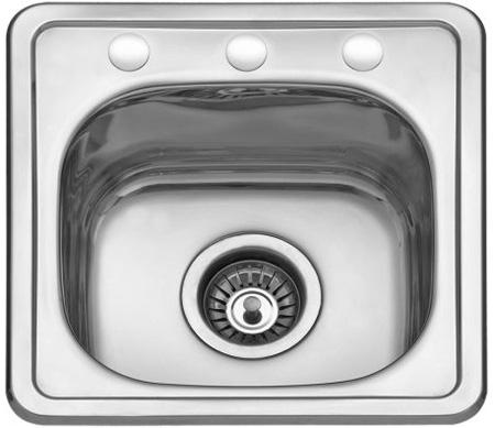 Jednodelna ugradna sudopera izradena od nerdajuceg plemenitog celika.