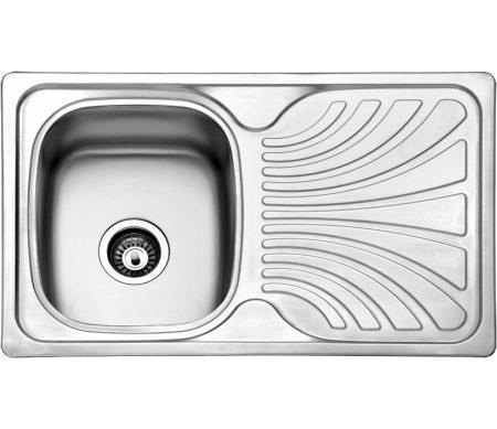Jednodelna ugradna sudopera sa ocedivacem izradena od nerdajuceg plemenitog celika.