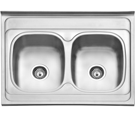 Dvodelna nasadna sudopera izradena od nerdajuceg plemenitog celika.