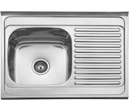 Jednodelna nasadna sudopera izradena od nerdajuceg plemenitog celika.