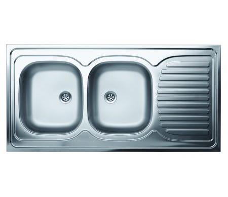 Dvodelna ugradna sudopera, odlicnog kvaliteta, izradena od rosfraja. Prakticna sudopera, za lako održavanje i korišcenje.