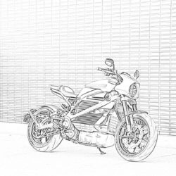 Motorcycles Coloring Pages Mimi Panda
