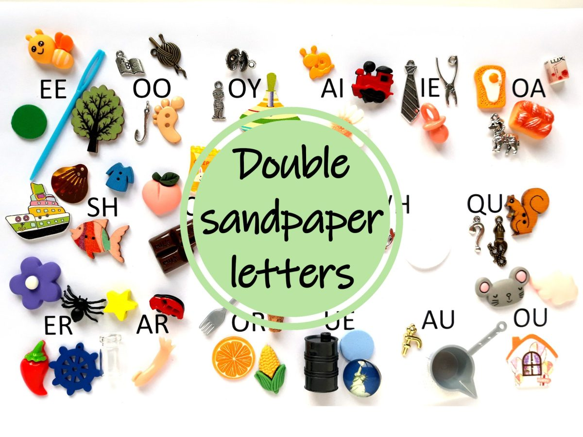 objects for double sandpaper letters