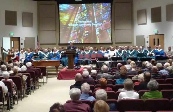 photo of choir at annual Interfaith Service