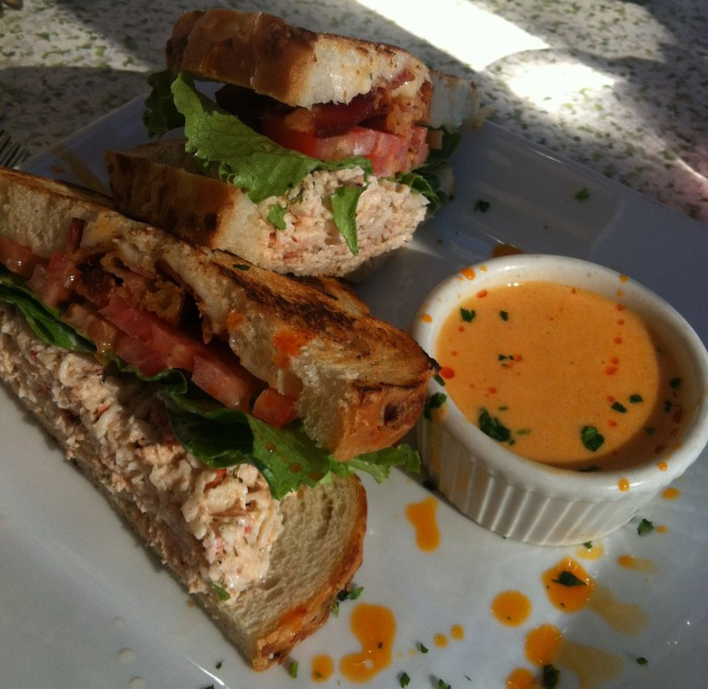 Lobster and Fontina BLT Sandwich