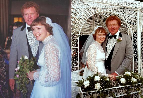 Wedding Jan. 9, 1982
