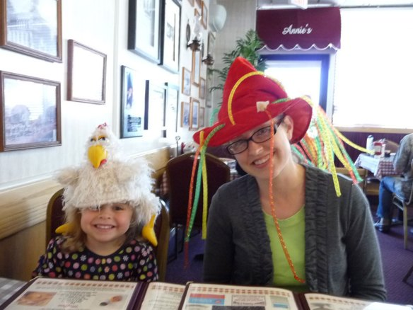 Annie's Cafe silly hats