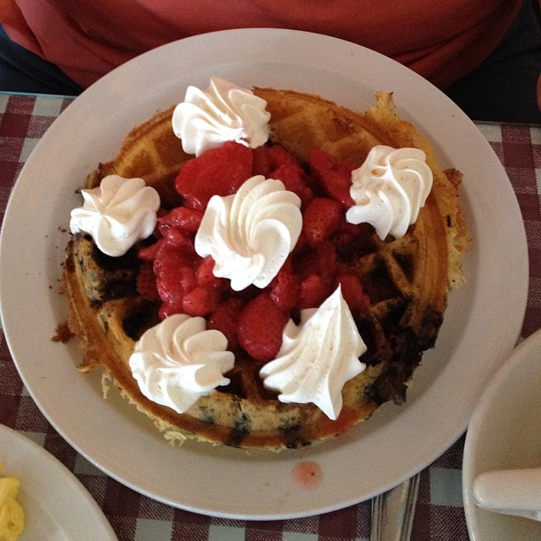 Red, White and Blue Waffle!