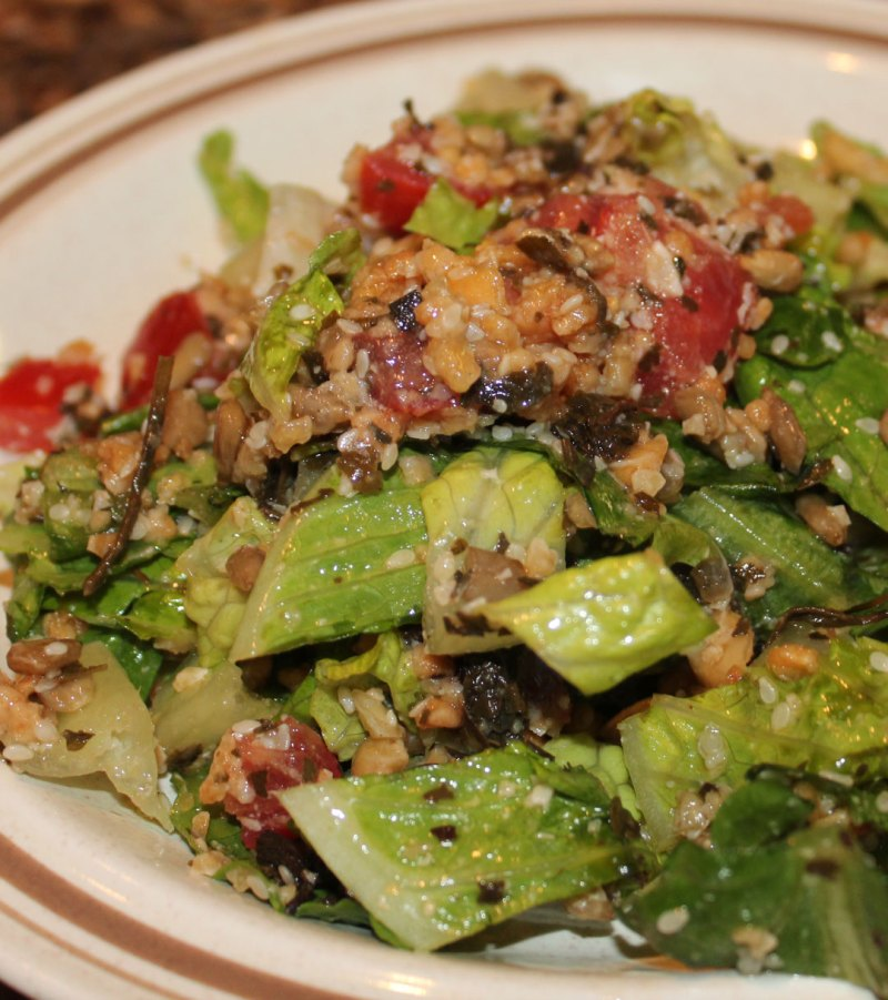 Burmese Tea Leaf Salad tossed
