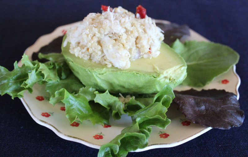 Crab and Quinoa Stuffed Avocado