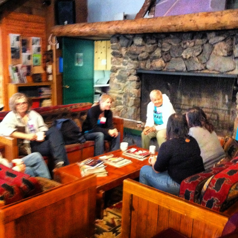 early morning chat Camp Blogaway
