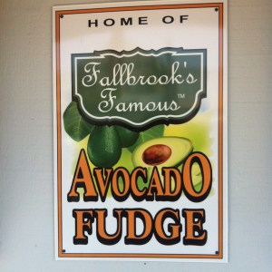 Avocado Fudge sign