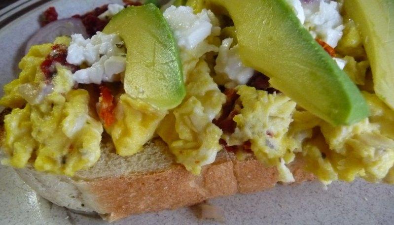 Scrambled eggs on Toast