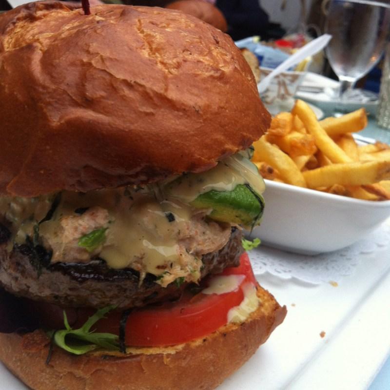 California Roll Burger from 26 Beach