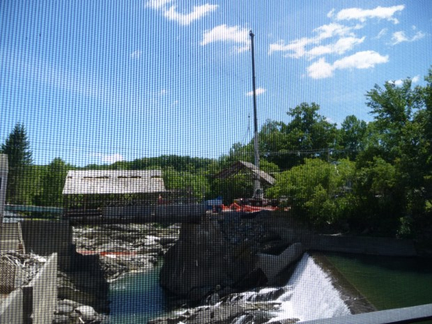 section of bridge removed