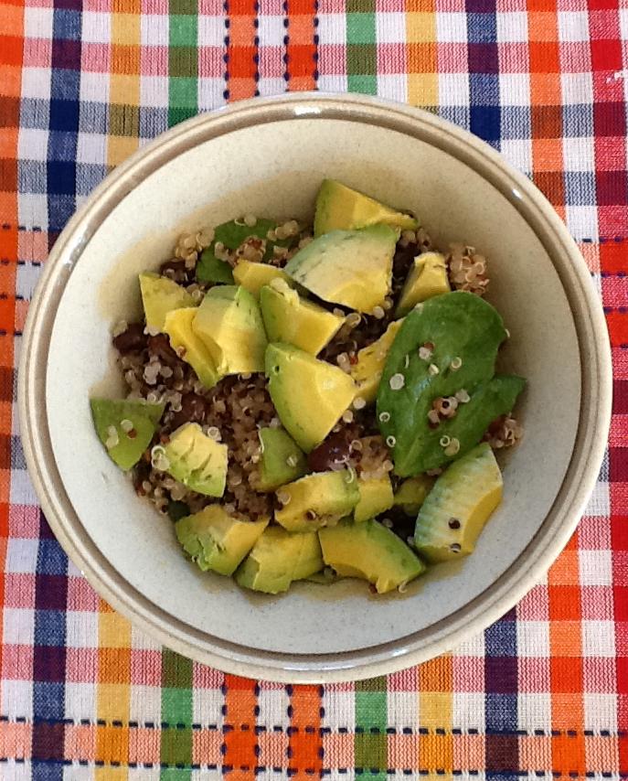 healthy quinoa salad with avocados