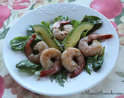 Pomegranate Shrimp Salad with California Avocado