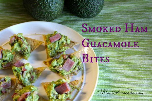 smoked ham guacamole bites