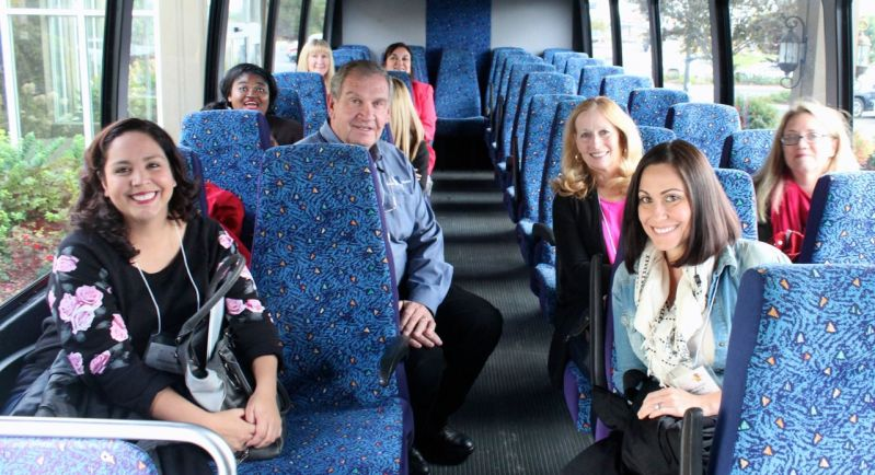 bloggers on the bus