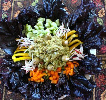 Burgundy Romaine Lettuce platter