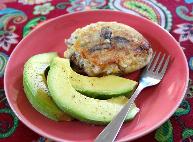 Potato Patty with Avocado