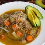 turkey soup with avocado