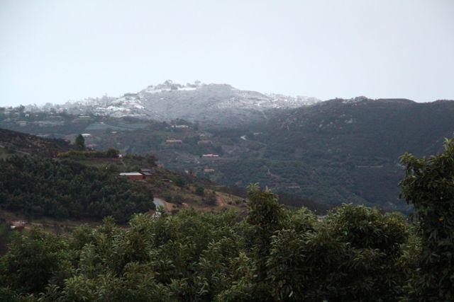snow in So California