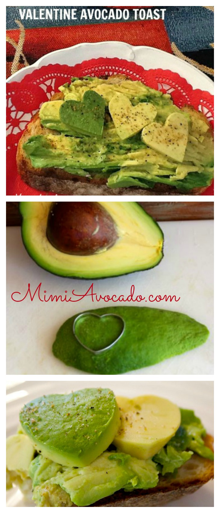 Avocado Hearts for Pinterest