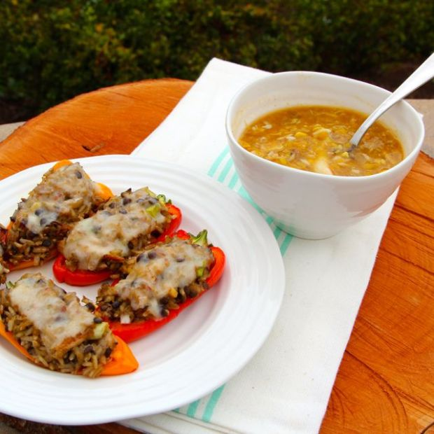 soup and peppers