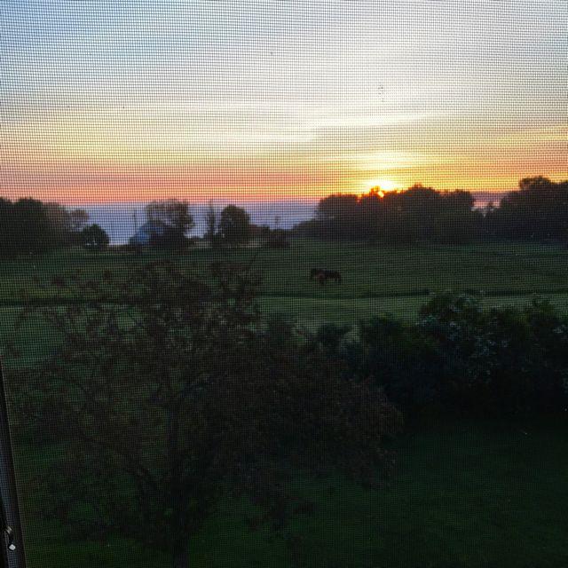 sunrise in Vermont