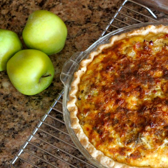 Fennel Onion Apple Quiche