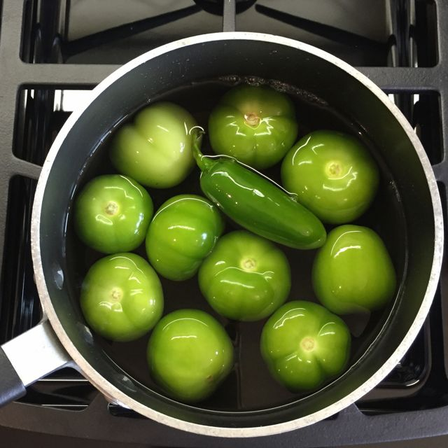 tomatillos and pepper