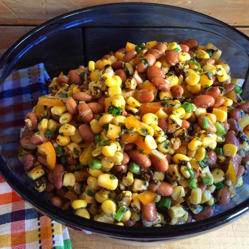 Roasted Corn and Bean Salad