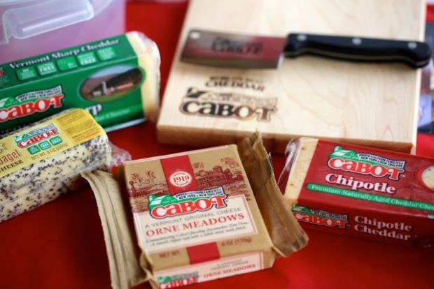 Cabot cheddar cheeses