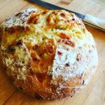 Cheesy No-Knead Bread