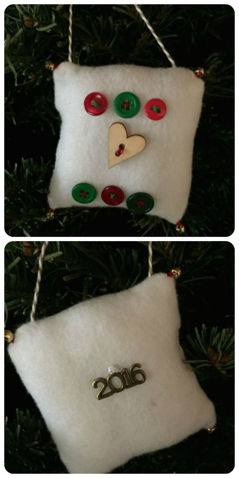 2016 family homemade ornament