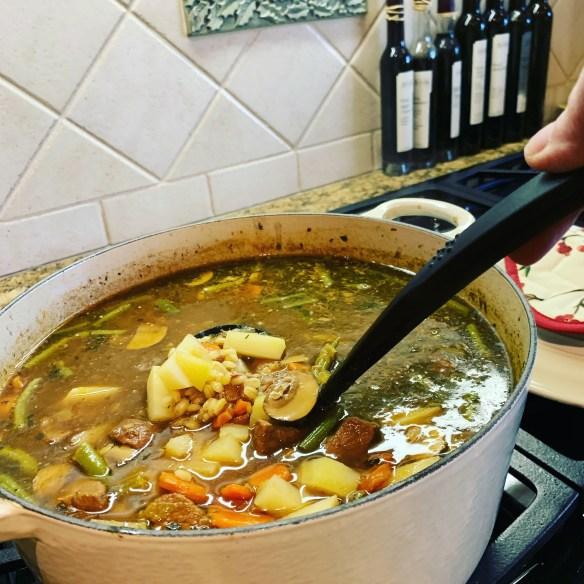 Veg Beef and Barley Soup