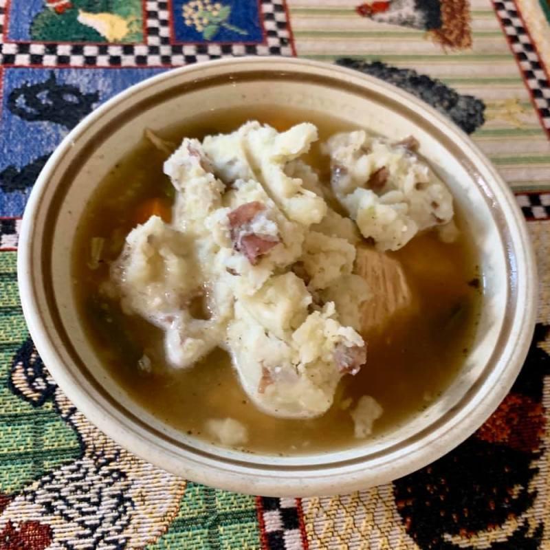 Chicken Mashed Potato Soup