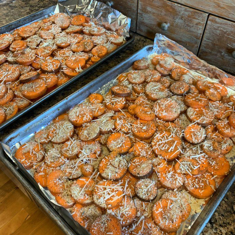 Carrots ready to roast