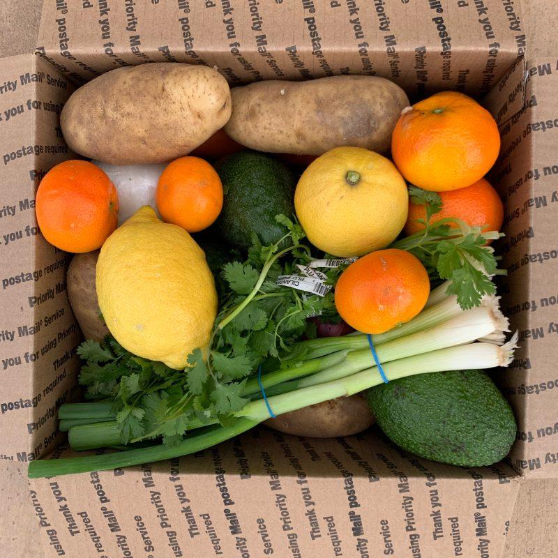 Variety produce box from California Avocados Direct